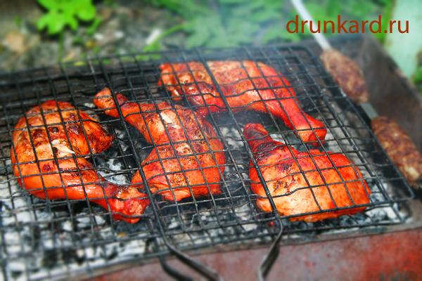 Курица тандури масала на мангале