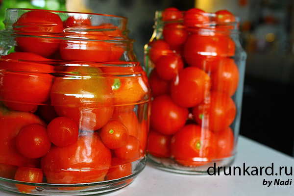 Бабушкины маринованные помидоры