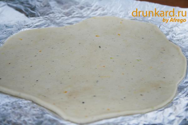 Лепёшки с кабачком на мангале