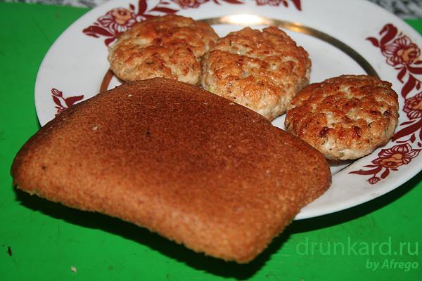 бутерброд с куриной котлетой