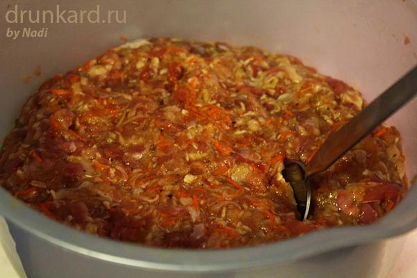 Митболы с овощами в томатном соусе
