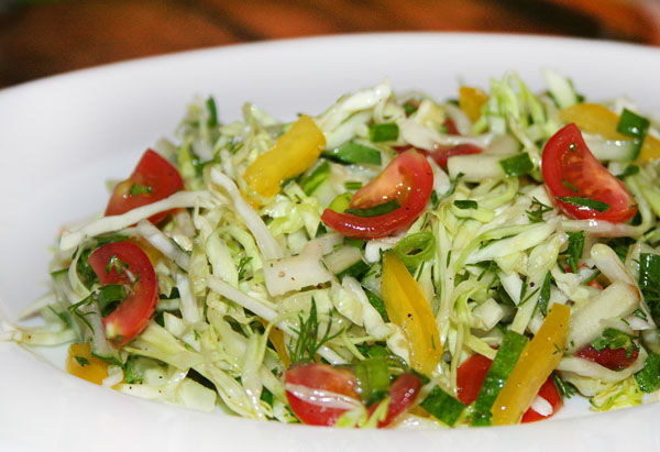 Салат с капустой и огурцом фото рецепт