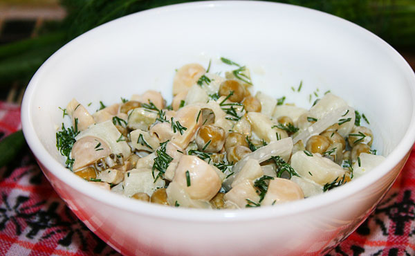 Салат мимоза в лаваше
