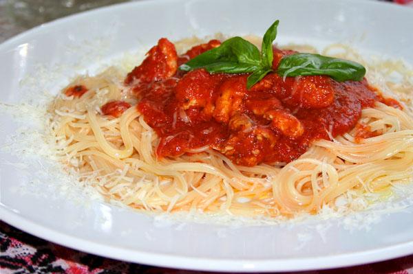 Подлива для макарон из томатной пасты