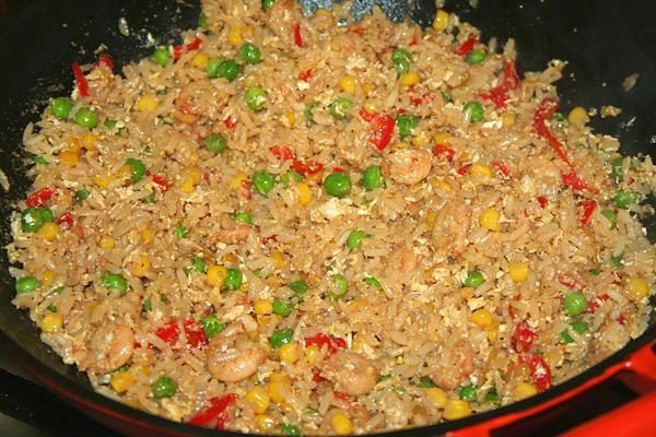 рис с яйцом и овощами рецепт с фото