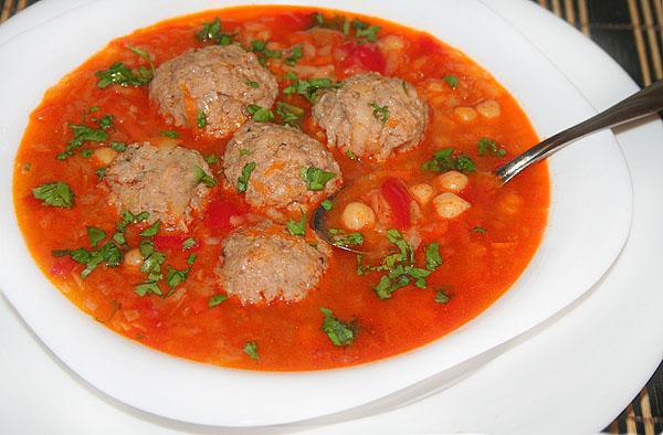 Томатный суп с фасолью и фрикадельками рецепт 84