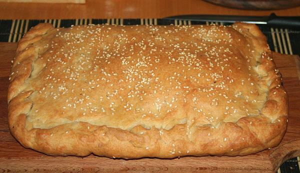 Обычный пирог с капустой